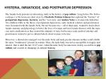 hysteria infanticide and postpartum depression