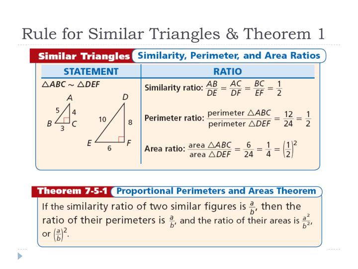 Rule for Similar Triangles & Theorem 1