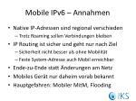 mobile ipv6 annahmen