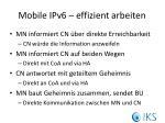 mobile ipv6 effizient arbeiten