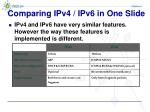 comparing ipv4 ipv6 in one slide