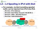 l3 l4 spoofing in ipv4 with 6to4