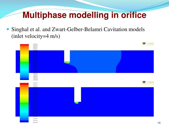 Multiphase modelling in orifice