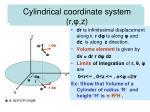 spherical polar coordinate system