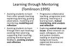 learning through mentoring tomlinson 1995