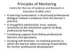 principles of mentoring centre for the use of evidence and research in education curee com