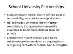 school university partnerships