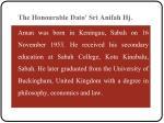 the honourable dato sri anifah hj