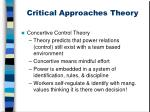 critical approaches theory