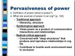 pervasiveness of power