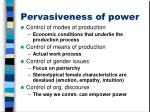 pervasiveness of power1