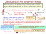conservative and non conservative forces