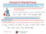 example for potential energy