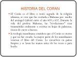 historia del coran