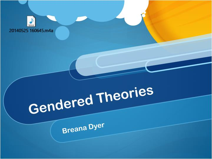 gendered theories n.