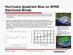 hurricane quadrant bias on sfmr retrieved winds