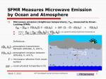 sfmr measures microwave emission by ocean and atmosphere