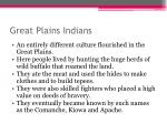 great plains indians