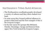 northeastern tribes b uild alliances