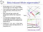 beta induced alfv n eigenmodes