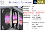 h 1 heliac parameters