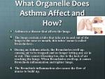what organelle does asthma affect and how