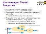 non managed tunnel properties