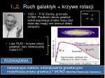 1 2 ruch galaktyk krzywe rotacji
