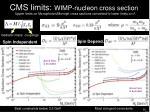 cms limits wimp nucleon cross section
