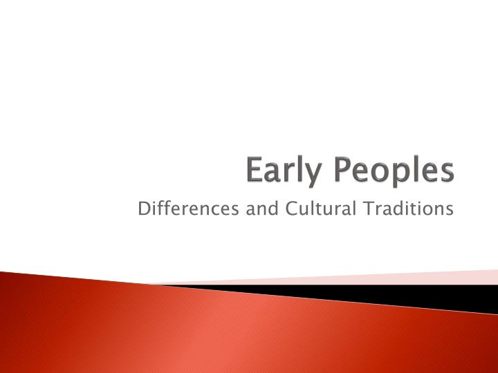 early peoples n.