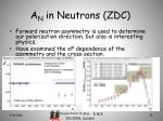 a n in neutrons zdc