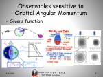observables sensitive to orbital angular momentum