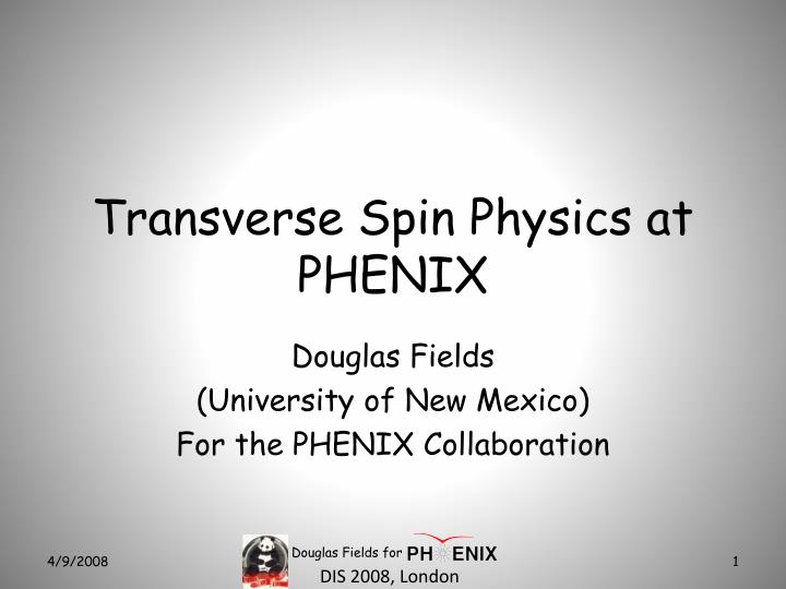 transverse spin physics at phenix n.