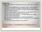activities academic integration l5