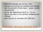 activities sherlock holmes l2