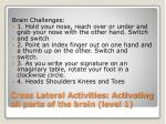 cross lateral activities activating all parts of the brain level 1