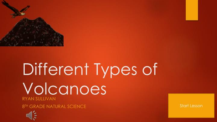 different types of volcanoes n.