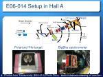 e06 014 setup in hall a