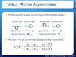 virtual photon asymmetries