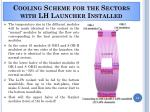 cooling scheme for the sectors with lh launcher installed