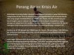 perang air krisis air