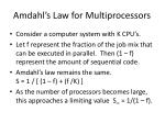 amdahl s law for multiprocessors