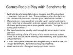 games people play with benchmarks