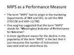 mips as a performance measure