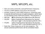 mips mflops etc
