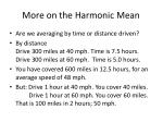 more on the harmonic mean