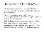 performance execution time