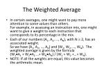 the weighted average