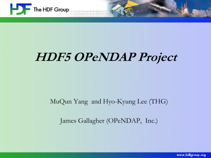 muqun yang and hyo kyung lee thg james gallagher opendap inc n.