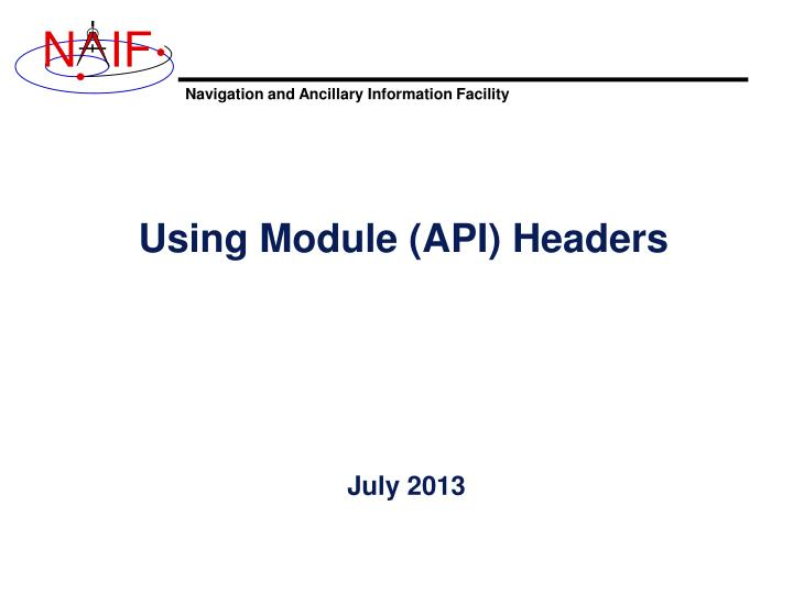using module api headers n.